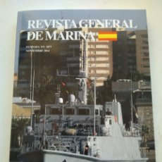 Coleccionismo de Revista Temas Españoles: REVISTA GENERAL DE MARINA NOVIEMBRE 2014 TOMO 267. Lote 297080113