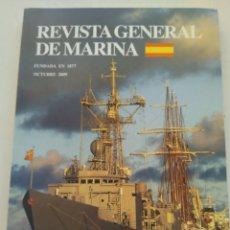 Coleccionismo de Revista Temas Españoles: REVISTA GENERAL DE MARINA OCTUBRE 2009. Lote 297120793