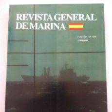 Coleccionismo de Revista Temas Españoles: REVISTA GENERAL DE MARINA JULIO.2011. Lote 297122113