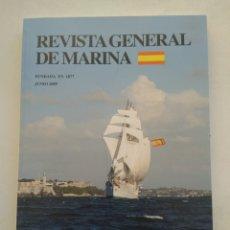 Coleccionismo de Revista Temas Españoles: REVISTA GENERAL DE MARINA JUNIO 2009. Lote 297122208