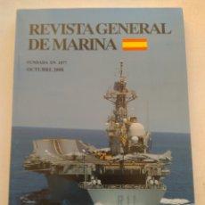 Coleccionismo de Revista Temas Españoles: REVISTA GENERAL DE MARINA OCTUBRE 2008. Lote 297122398