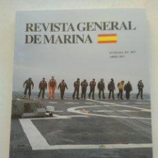 Coleccionismo de Revista Temas Españoles: REVISTA GENERAL DE MARINA ABRIL 2013. Lote 297122428