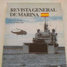Coleccionismo de Revista Temas Españoles: REVISTA GENERAL DE MARINA NOVIEMBRE 2004. Lote 297122458