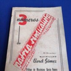 Coleccionismo de Revista Temas Españoles: PATRIA SINDICALISTA 3 NUMEROS. Lote 297273193