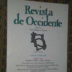 Coleccionismo de Revista Tiempo: JORGE GUILLÉN. NÚMERO MONOGRÁFICO DE REVISTA DE OCCIDENTE.. Lote 50373745