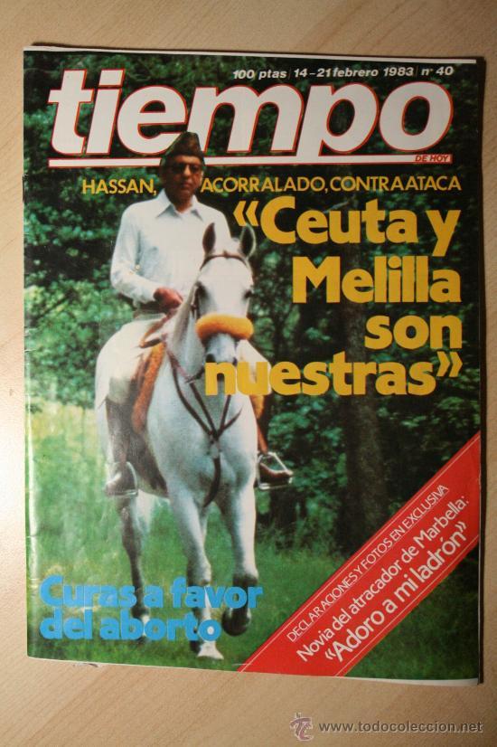 REVISTA TIEMPO. Nº 40 14-12 FEBRERO 1983 (Coleccionismo - Revistas y Periódicos Modernos (a partir de 1.940) - Revista Tiempo)