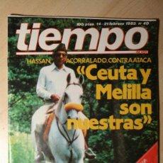 Coleccionismo de Revista Tiempo: REVISTA TIEMPO. Nº 40 14-12 FEBRERO 1983. Lote 24668006