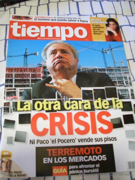 REVISTA 'TIEMPO', Nº 1344. 25 DE ENERO DE 2008. CRISIS INMOBILIARIA. (Coleccionismo - Revistas y Periódicos Modernos (a partir de 1.940) - Revista Tiempo)