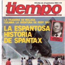 Coleccionismo de Revista Tiempo: REVISTA ANTIGUA TIEMPO Nº 19 - 1982 - TRAGEDIA EN EL AEROPUERTO DE MALAGA. Lote 26095552