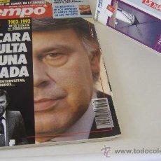 Coleccionismo de Revista Tiempo: REVISTA TIEMPO Nº 547, OCTUBRE 1992, PORT. FELIPE GONZÁLEZ, REGALO CINTA VHS. Lote 27334042