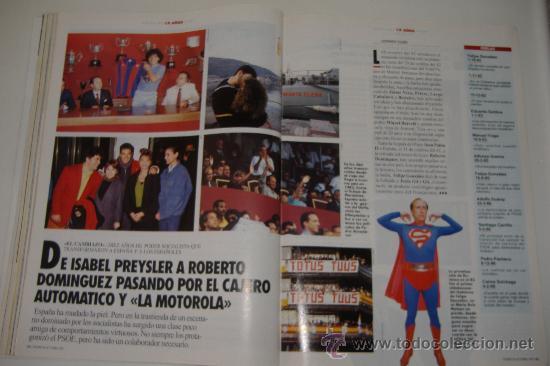 Coleccionismo de Revista Tiempo: revista tiempo nº 547, octubre 1992, port. felipe gonzález, regalo cinta vhs - Foto 6 - 27334042