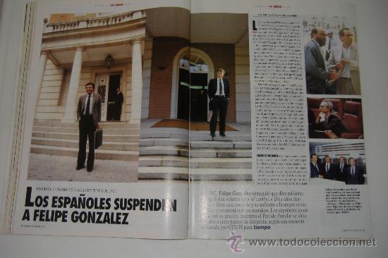 Coleccionismo de Revista Tiempo: revista tiempo nº 547, octubre 1992, port. felipe gonzález, regalo cinta vhs - Foto 7 - 27334042