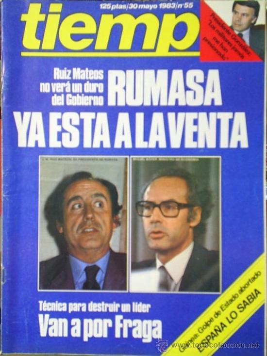 REVISTA TIEMPO Nº 55 (1983) (Coleccionismo - Revistas y Periódicos Modernos (a partir de 1.940) - Revista Tiempo)