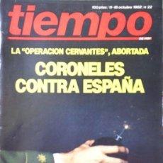 Collectionnisme de Magazine Tiempo: REVISTA TIEMPO Nº 22 (1982). Lote 21329617