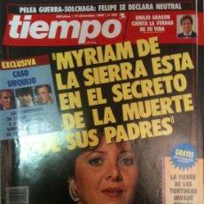 Collectionnisme de Magazine Tiempo: REVISTA TIEMPO DE HOY-Nº450-17-DICIEMBRE-1990-CASO URQUIJO,CONFESIONES DE JAVIER ANASTASIO Y MIRIAM . Lote 23345587