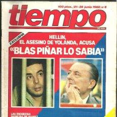 Coleccionismo de Revista Tiempo: REVISTA TIEMPO - Nº 6 - 21 - 28 DE JUNIO DE 1982 - MÁS DE 100 PAGINAS. Lote 24126718