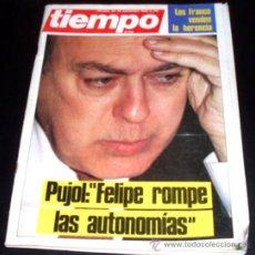 Coleccionismo de Revista Tiempo: TIEMPO - REVISTA - NUM 176 - 23 SEPTIEMBRE 1985 - JORDI PUJOL. Lote 28237572