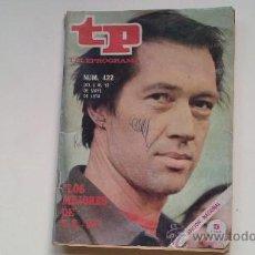 Coleccionismo de Revista Tiempo: REVIST TELEPROGRAMA .422(TP)MAYO .74.LOS MEJORES DE TP .73.DAVID CARRADINE,LOS PAYASOS.... Lote 28365746
