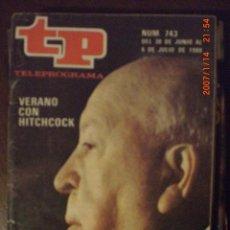 Coleccionismo de Revista Tiempo: TP TELEPROGRAMA Nº 743 DEL 30 AL 6-7-1980 VERANO CON HITCHCOCK. Lote 28821968