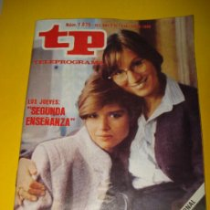 Colecionismo da Revista Tiempo: ANTIGUA REVISTA TP TELEPROGRAMA Nº 1.035 FEBRERO DE 1986 .SEGUNDA ENSEÑANZA.. Lote 29396358
