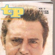 Colecionismo da Revista Tiempo: TP TELEPROGRAMA NUM. 77: CARLOS LEMOS + EMILIA RUBIO. Lote 29808284