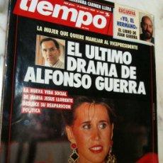 Coleccionismo de Revista Tiempo: REVISTA TIEMPO Nº 440 8/10/1990 ULTIMO DRAMA DE ALFONSO GUERRA-Mª JESUS LLORENTE-LIBRO JUAN GUERRA. Lote 30156435