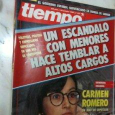 Coleccionismo de Revista Tiempo: REVISTA TIEMPO Nº 443-29/10/1990 ESCANDALO CON MENORES HACE TEMBLAR ALTOS CARGOS-CARMEN ROMERO. Lote 30156480