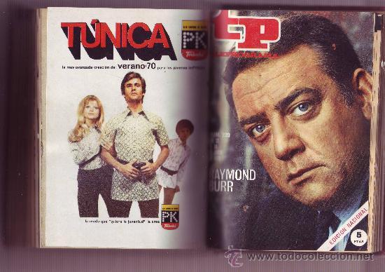 TP TELEPROGRAMA Nª211 AL 220 AÑO 1970 (10 REVISTAS) ENCUADERNADAS (Coleccionismo - Revistas y Periódicos Modernos (a partir de 1.940) - Revista Tiempo)