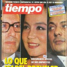 Coleccionismo de Revista Tiempo: REVISTA TIEMPO NUM 265 DE JUNIO 1987. Lote 30443023