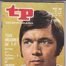 Coleccionismo de Revista Tiempo: REVISTA T.P. TELEPROGRAMA Nº 366. Lote 31152301