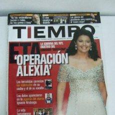Coleccionismo de Revista Tiempo: REVISTA TIEMPO - FEBRERO 2001 - ETA : OPERACION ALEXIA - AZNAR : LOS PLANES DEL PRESIDENTE. Lote 31419061