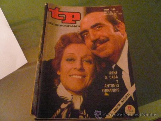 TELEPROGRAMA TP NUMERO 244 DICIEMBRE 1970 (Coleccionismo - Revistas y Periódicos Modernos (a partir de 1.940) - Revista Tiempo)