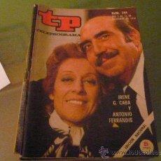 Coleccionismo de Revista Tiempo: TELEPROGRAMA TP NUMERO 244 DICIEMBRE 1970. Lote 31507379