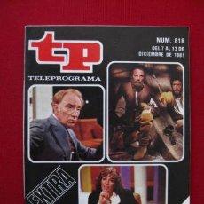 Coleccionismo de Revista Tiempo: TELEPROGRAMA.-TP NUM. 818.-AÑO 1981.EXTRA- .PORTADA E INTERIOR. . Lote 31790552
