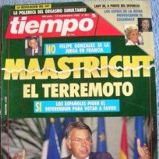 Coleccionismo de Revista Tiempo: REVISTA TIEMPO. Nº 541 SEPTIEMBRE 1992. PENELOPE CRUZ, PORCEL, SERRAT, SIGOURNEY, AZNAR, PRC. DIANA.. Lote 32430078