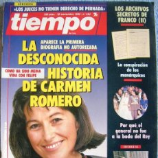 Colecionismo da Revista Tiempo: REVISTA TIEMPO. Nº 552. NOVIEMBRE 1992. CARMEN ROMERO, CHER, SANCHEZ DRAGO, GUNTER GRASS, ULTRAS.... Lote 32430177