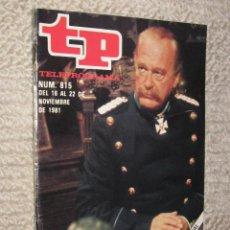 Coleccionismo de Revista Tiempo: TP TELEPROGRAMA Nº 815 DE 1981. CURD JURGENS. Lote 32617697