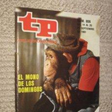 Coleccionismo de Revista Tiempo: TP TELEPROGRAMA Nº 806 DE 1981. EL MONO DE LOS DOMINGOS. Lote 32617712