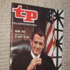 Coleccionismo de Revista Tiempo: TP TELEPROGRAMA Nº 802 DE 1981. TONY RANDALL, AHORA ES JUEZ. Lote 32617734