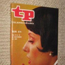 Coleccionismo de Revista Tiempo: TP TELEPROGRAMA Nº 814 DE 1981. SILVIA TORTOSA, VUELVE DE ACTRIZ. Lote 32617760