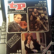 Coleccionismo de Revista Tiempo: BONITO TELEPROGRAMA TP AÑO 1981 Nº818 (EXTRA). Lote 32915823
