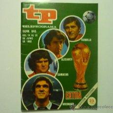 Colecionismo da Revista Tiempo: REVISTA TP TELEPROGRAMA NUM.845 --1982. Lote 32950145