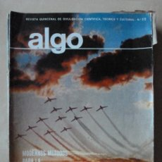 Coleccionismo de Revista Tiempo: REVISTA ALGO Nº 52 FEBRERO 1966. HYMSA .PREVISION Y CONTROL TIEMPO ATMOSFERICO. Lote 33443241