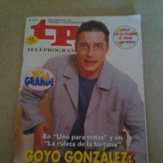 Coleccionismo de Revista Tiempo: TP GONZALEZ UNO PARA TODAS LA RULETA DE LA FORTUNA. Lote 35558256
