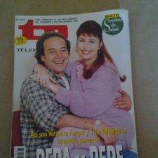 Coleccionismo de Revista Tiempo: TP VERONICA FORQUE TITO VALVERDE PEPA Y PEPE NOSTALGIA TELEVISION. Lote 35558314