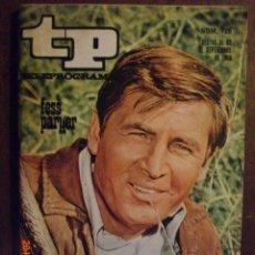 Coleccionismo de Revista Tiempo: TP TELEPROGRAMA Nº 128 DEL 16 AL 22-9-1968 FESS PARKER. Lote 50619308