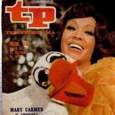 Coleccionismo de Revista Tiempo: TELEPROGRAMA, Nº 391, 1973, MARY CARMEN Y NIKOL, TP. Lote 35616196