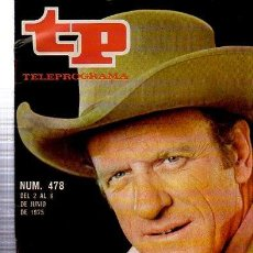 Coleccionismo de Revista Tiempo: TELEPROGRAMA, Nº 478, 1975, EL SHERIFF DE CADA DOMINGO, TP. Lote 35616247