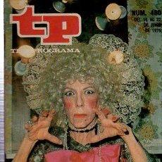 Coleccionismo de Revista Tiempo: TELEPROGRAMA, Nº 480, 1975, SERIE DE TERROR EN TVE, TP. Lote 35616425