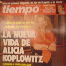 Coleccionismo de Revista Tiempo: REVISTA TIEMPO Nº 368. LA NEVA VIDA DE ALICIA KOPLOWITZ. Lote 35753859